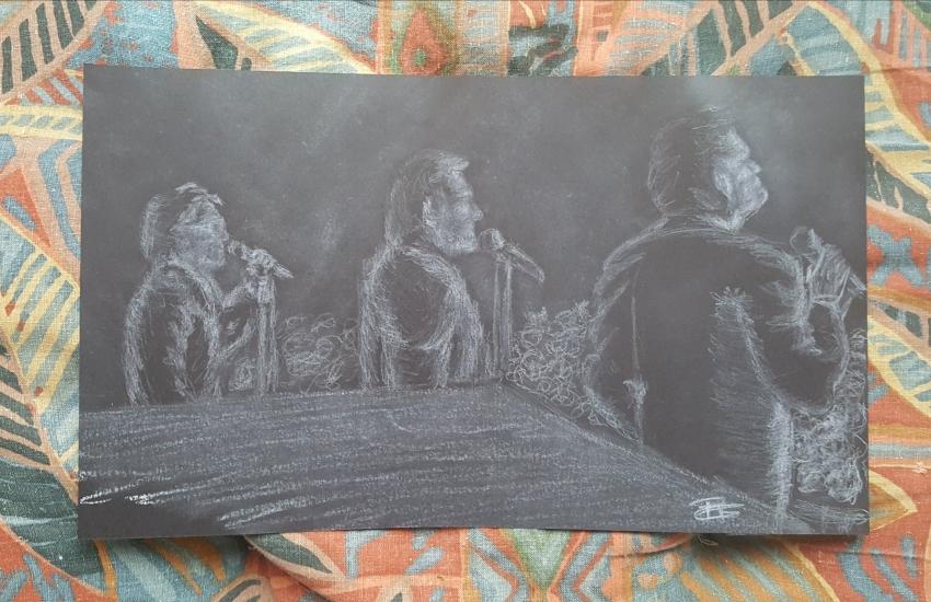 Jacques Dutronc, Johnny Hallyday, Eddy Mitchell par Raoul.G